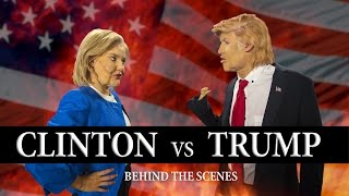 trump vs clinton dance battle   behind the scenes