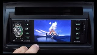 "Review: Cheap Chinese Car stereo music/video player w/ 4.1"" LCD screen"