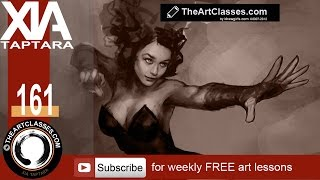 Digital painting tutorial Scarlet Witch part 1 of 3: Blocking in drawing
