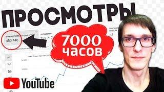 Набрать 4000 часов для монетизации! Как набрать просмотры на видео. Продвижение видео на YouTube