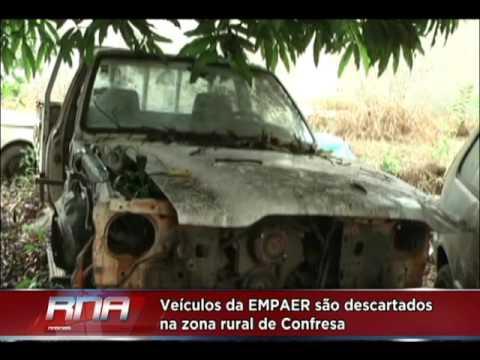 Veículos da EMPAER são descartados na zona rural de Confresa