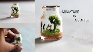 DIY BOTTLE MINIATURE | SUPER EASY BOTTLE MINIATURE |