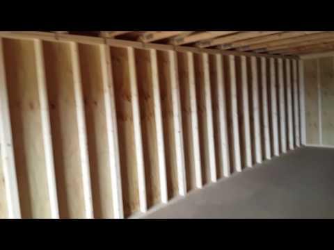 16x40 Utility Building with 6 foot roll up door