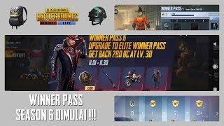 Winner Pass Season 6 Dimulai ! Cuma 40rb-an !! Udah Ada Skin Tas dan Helm !!