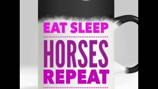 EAT SLEEP HORSES REPEAT - Horse riding funny heat changing gift mug - ORDER TODAY! | Green Tomato GIfts