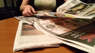 ASMR- Sunday (and Saturday) Newspaper page turning-reading -Silent-no talking