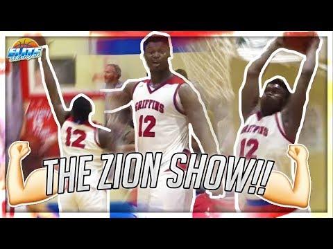 Zion Williamson SNAPS! Crazy Dunk Show at Spartanburg Day