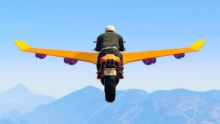 EXTREMELY MODDED FLYING BIKE RACE! (GTA 5 Funny Moments)