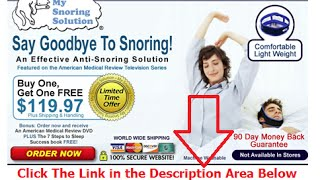 easy way to stop snoring | Say Goodbye To Snoring