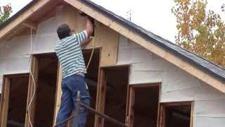 The Woodpecker Ep 65   Building The New Shop Part 12   The Exterior Walls