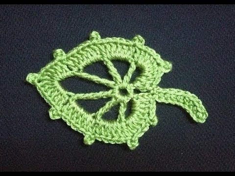 How to Crochet a Leaf Pattern #4 ?by ThePatterfamily - YouTube