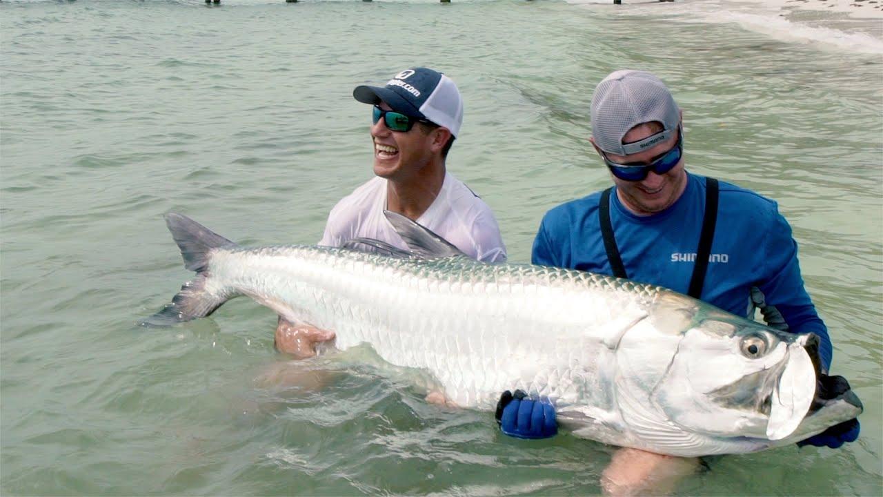 Fishing for MASSIVE GIANT TARPON in FLORIDA