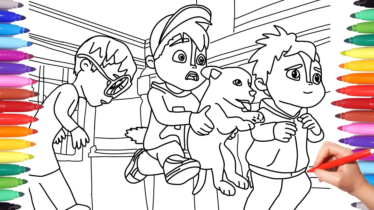 - Alvinnn And The Chipmunks, Alvin Coloring Pages For Kids, How To