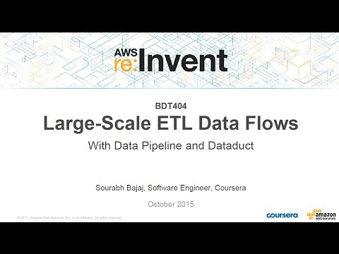 AWS re:Invent 2015 | (BDT404) Large-Scale ETL Data Flows w/AWS Data Pipeline & Dataduct