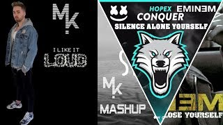 Marshmello Vs. Hopex Feat. Eminem & Khalid - Conquer Silence Alone Yourself