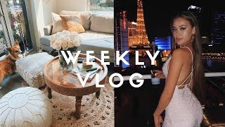 WEEKLY VLOG - partying in vegas + home decor shopping!