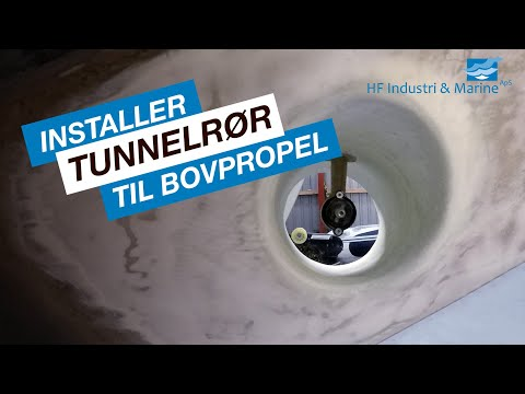 Side Power bovpropel installation med WEST SYSTEM HF Industri & Marine ApS