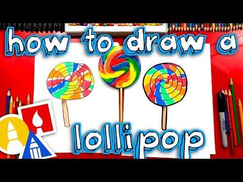 how-to-draw-a-giant-rainbow-lollipop