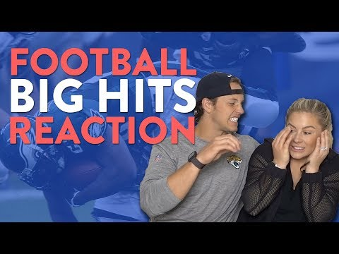 NFL PLAYER REACTS TO FOOTBALLS BIGGEST HITS!