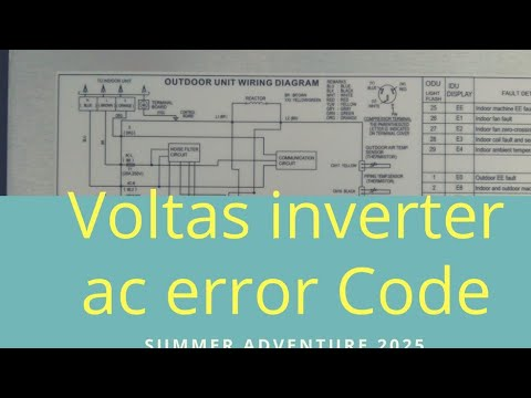 voltas inverter ac error code list Air Handler Wiring Diagram
