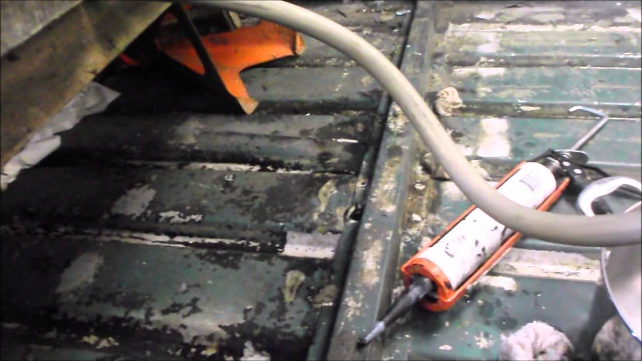 Finding and fixing leaks in a riveted aluminum jon boat - YouTube