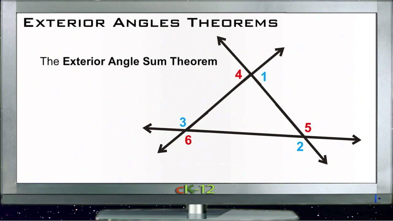 Exterior Math: Exterior Angles Theorems: Lesson (Basic Geometry Concepts