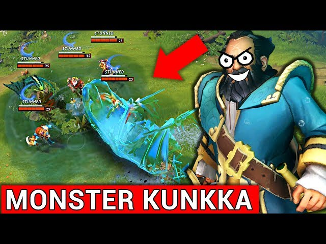 MONSTER KUNKKA PATCH 7.08 DOTA 2 NEW META GAMEPLAY #22 (FUNNY MOMENTS)