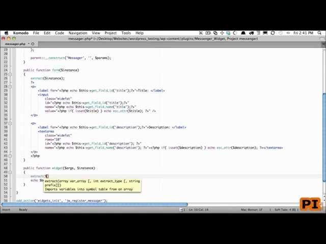 5 The Widget Method(wordpress widget development tutorial