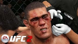 EA Sports UFC 2 - Mike Tyson vs Bigfoot Silva Gameplay PS4 / Xbox One