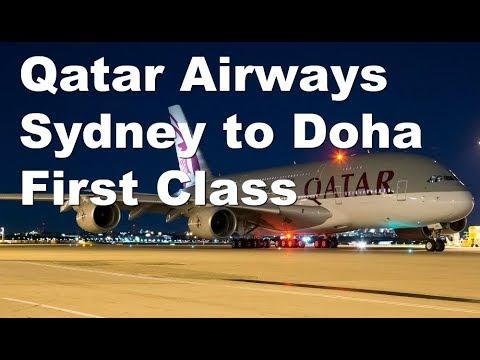 Qatar Airways First Class A380 Sydney to Doha