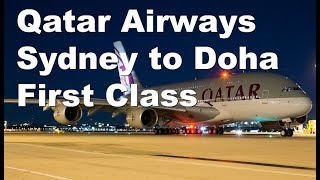Qatar Airways First Class A380 Sydney to Doha