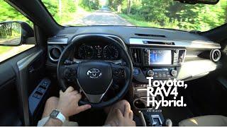 2018 New Toyota RAV4 Hybrid 197 HP 4K | POV Test Drive #072 Joe Black