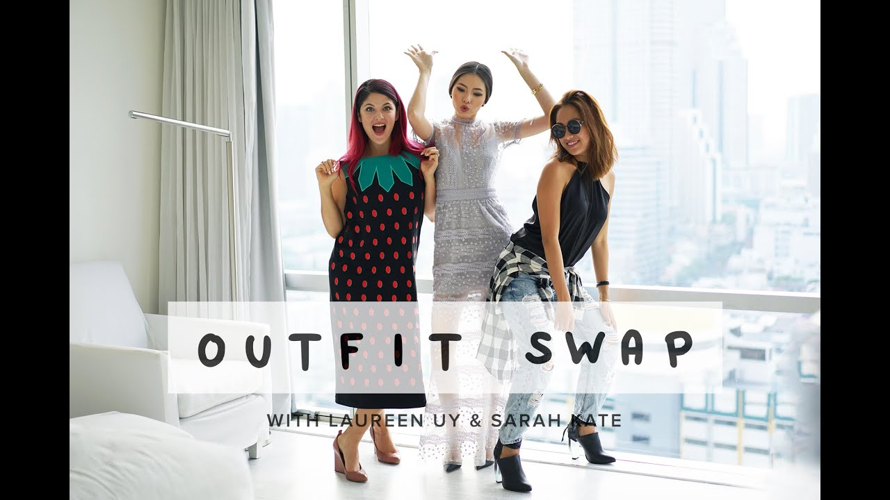 outfit swap with laureen uy sarah kate olivia lazuardy youtube