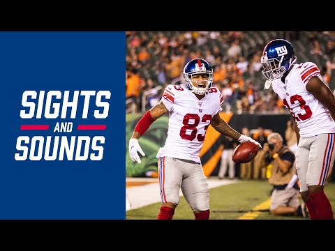 Giants vs. Bengals preseason highlights   Sights and Sounds from the win