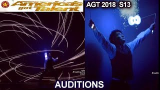 Mochi From Japan with DIABOLO That Makes AMAZING VISUALS EFFECTS America's Got Talent 2018 Auditions
