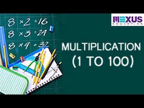 Multiplication 1 To 100 Youtube