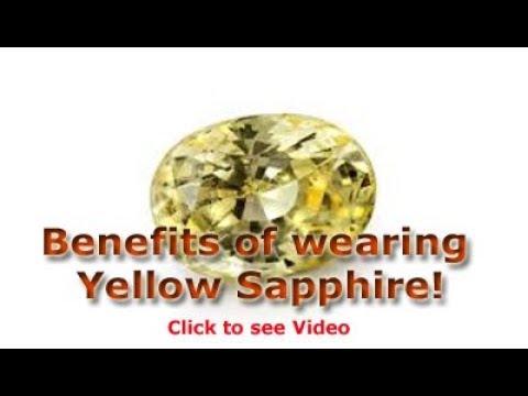 Benefits of wearing Yellow Sapphire Pukhraj stone