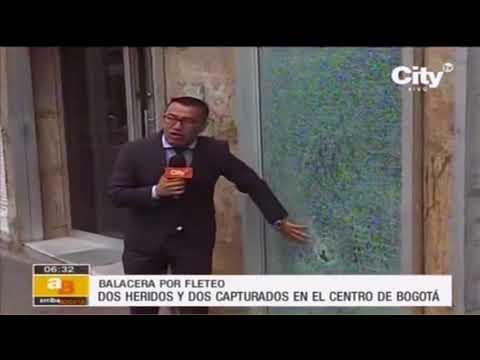 Policía se salva de balacera en el centro de Bogotá por su chaleco antibalas | Citytv
