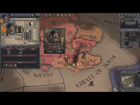 Crusader Kings 2 Ironman Timelapse, From Duke of Essex to Emperor of Britannia 1/7