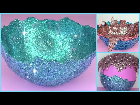 DIY Glitter Accent Bowl