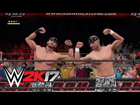 WWE 2K17 - The Young Bucks (Custom ROH Arena, Entrance & Tag Moves)