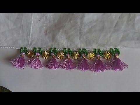 Avani very simple method Saree kuchu design