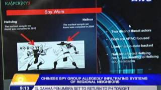chinese spies infiltrating systems of regional neighbors?