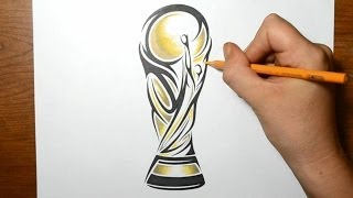 Drawing the FIFA World Cup Trophy - Tribal Tattoo Design Style