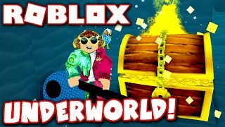 BURIED TREASURE IN THE UNDERWORLD!! (Roblox Treasure Hunt Simulator)