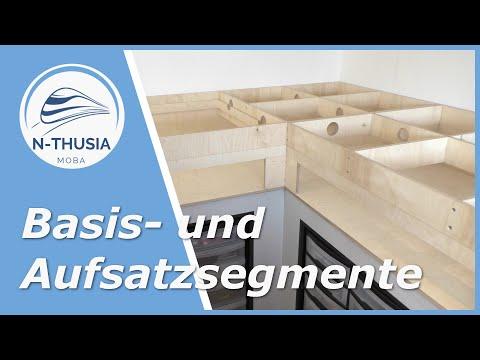 Segmentbau – Aufbau der Basis- und Aufsatzsegmente   Bürobahn in Spur N