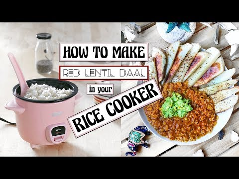 FAST EASY VEGAN DAL IN A RICE COOKER