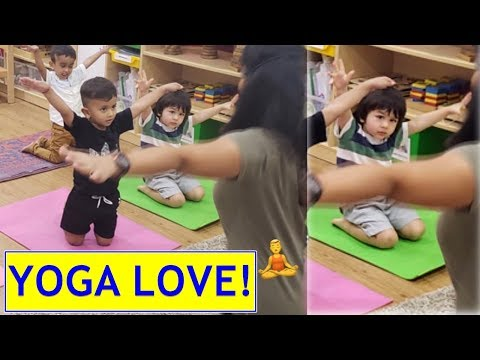 This picture of Taimur performing yoga with his classmates in preschool is too cute! Mp3