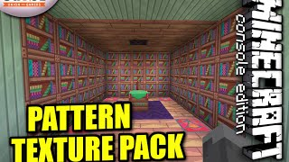 Minecraft PS4 - PATTERN TEXTURE PACK REVIEW AND SHOWCASE ( PS3 / XBOX )