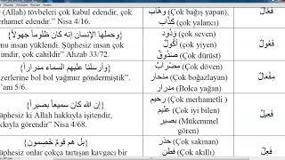 İst Üni İLİTAM Arapça 1/ 6.Ünite/ MÜBÂLAĞA SÎGASI